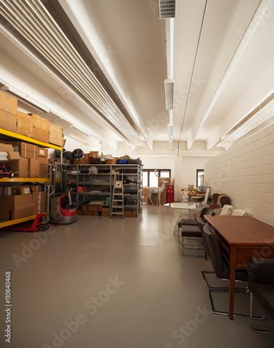 Foto op Canvas Restaurant Modern house interior, warehause