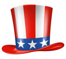 Uncle Sam's Hat. Vector Illust...