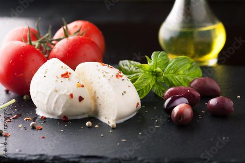 Fotografie, Obraz  Caprese salad with mozzarella, fresh tomato and basil