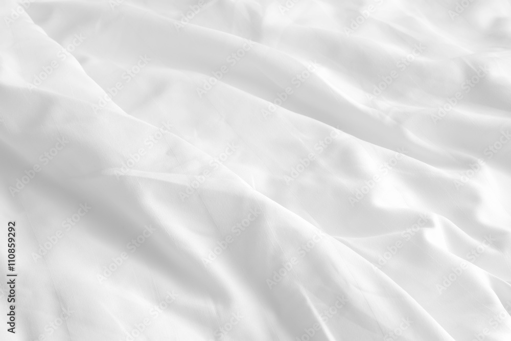 Fototapety, obrazy: white wrinkle bed sheets
