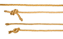Ship Ropes With Knot Isolated ...