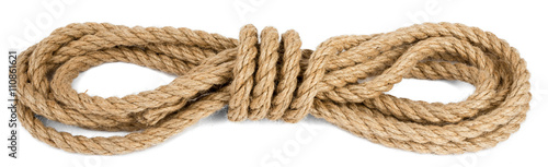 Cuadros en Lienzo Ship rope isolated on white background