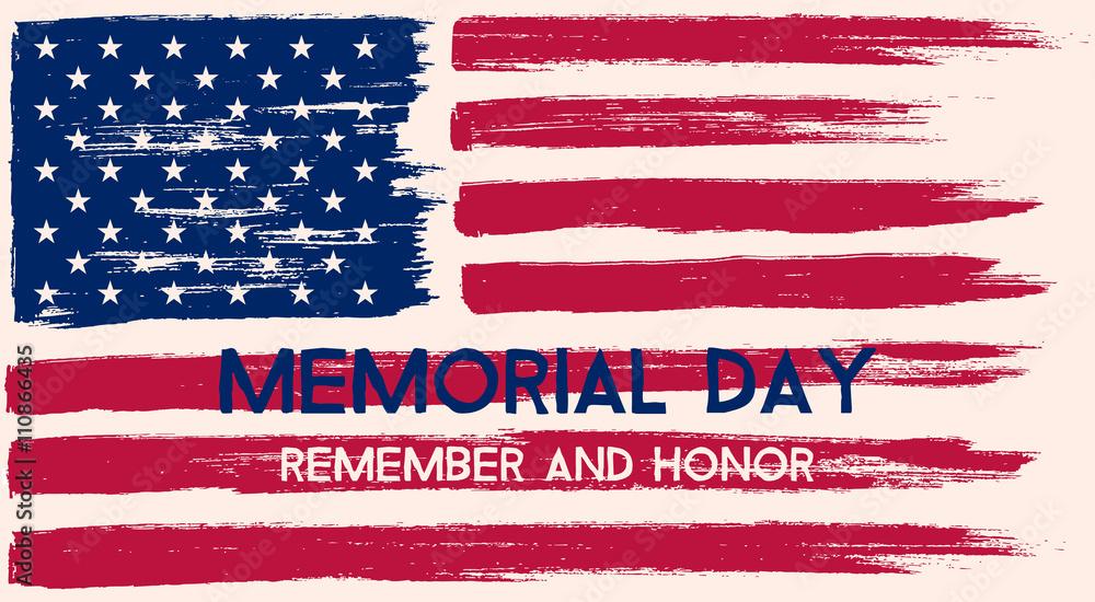 Fototapety, obrazy: Memorial Day illustration.