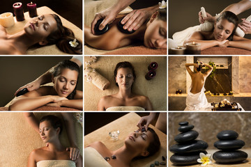 Set of nine SPA photos