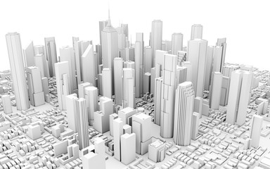3d city downtown