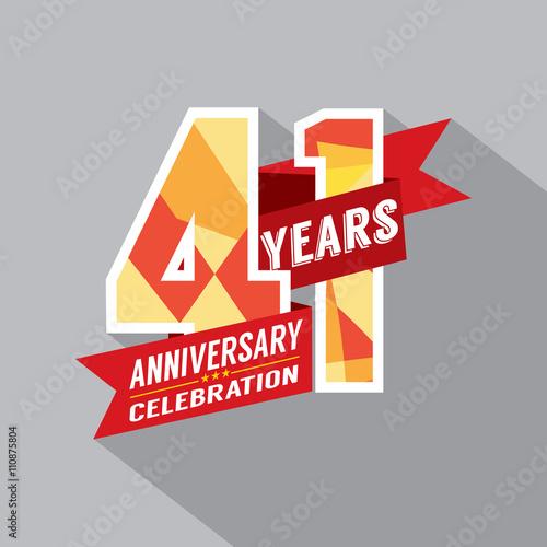 Fotografia  41st Years Anniversary Celebration Design.