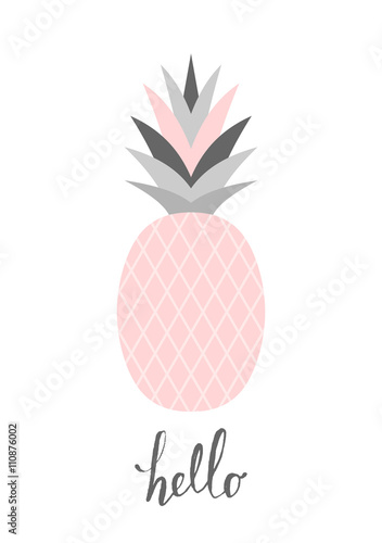 Pastel Pink Pineapple Design Canvas Print