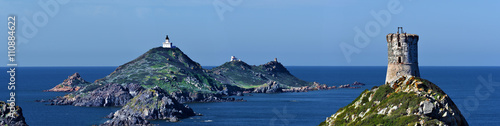 Photo Panoramic View at Archipelago Sanguinaires and Parata tower