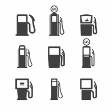 Gas, Gasoline Pump Icons