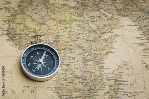 Poster de jardin Amérique du Sud Compass