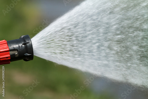 Fotografie, Obraz  stream of water from a fire hose