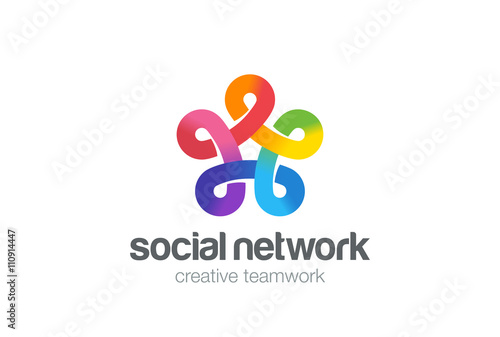 Social Network Logo Colorful Design Vector Template Five Point Infinity Looped Star Logotype Infinite Shape Concept Loop Icon Buy This Stock Vector And Explore Similar Vectors At Adobe Stock Adobe Stock