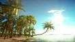 Heavenly tropical island background.