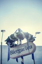 Beer Garden Sign, Munich, Germany