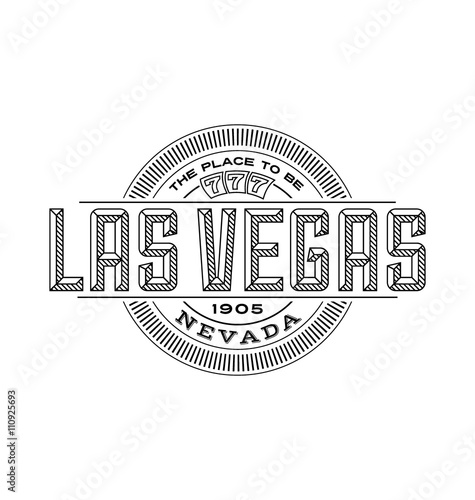 Photo  las vegas, nevada linear emblem design for t shirts and stickers