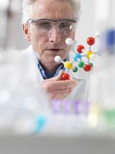 Scientist Viewing Molecular Mo...