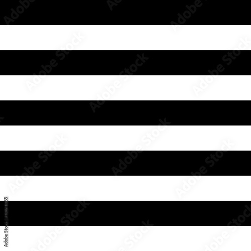 Stampa su Tela  Vector Striped Seamless Pattern. Black and white background.