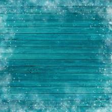 Turquoise Christmas Wood