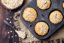 Healthy Vegan Oat Muffins, App...