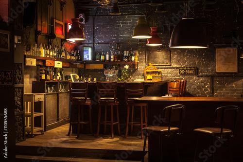 Obraz Interior of pub. - fototapety do salonu