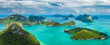 canvas print picture - Tropical group of islands in Ang Thong National Marine Park.