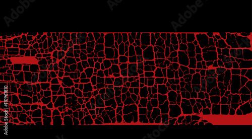 Fotografía  red craquelure background vector illustration