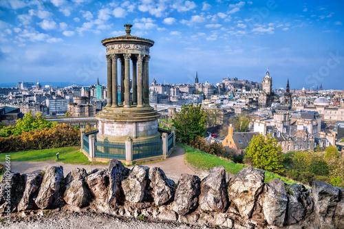 Zdjęcie XXL Edynburg z Calton Hill w Szkocji