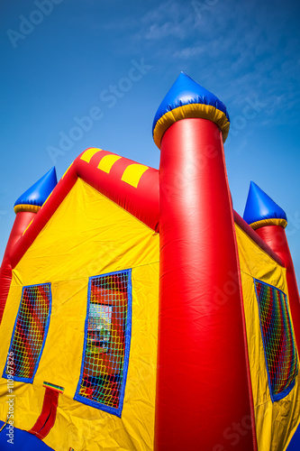 Fotografie, Obraz Inflatable Bouncy Castle