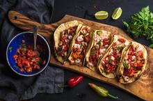 Shrimp Tacos With Homemade Sal...