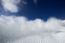 Snow Dust Cloud After Skier Or...
