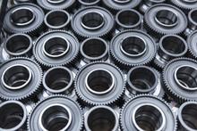 Steel Gear Wheels In Production In Engineering Factory