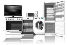Vari Tipi Di Elettrodomestici  Con Vista Frontale 3D..