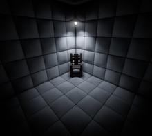 Dark Cell In Mental Asylum Wit...