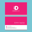ED Logo | Business Card Template | Vector Graphic Branding Letter Element Combination | White Background Abstract Design Colorful Object | Negative Space Style