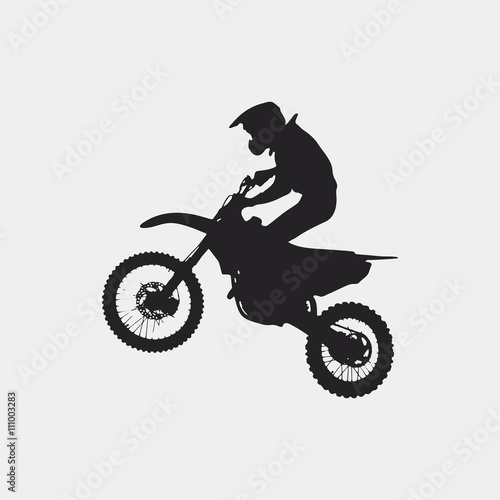 Photo  Motocross drivers silhouette