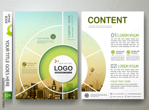 brochure design template vector annual report flyers poster