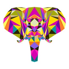 FototapetaAbstract elephant isolated on white