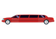 Limousine vector illustration isolated