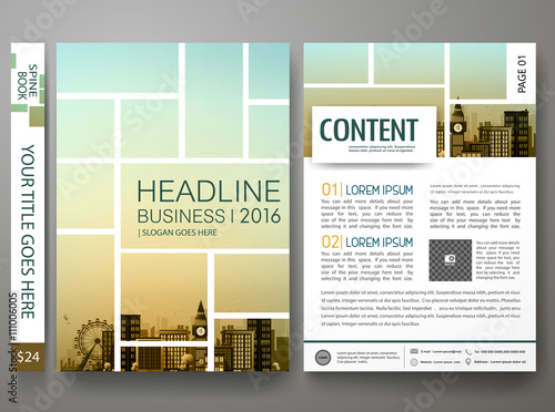 Fotografie, Obraz  Brochure design template vector