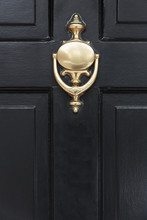 Front Door Close Up Of A Brass...