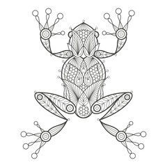 Adult coloring. Frog.
