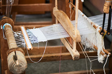 The Production Process Of The Handmade Textiles On The Loom