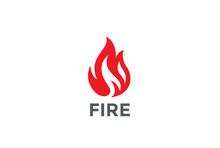 Fire Flame Logo Design Vector....