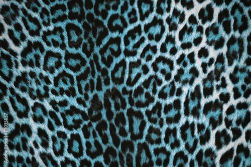 Beautiful Blue Leopard Pattern Fur Background Animal Print