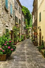 Fototapeta Współczesny street provincial Italy