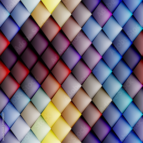 fototapeta na lodówkę Abstract seamless rhombus pattern.