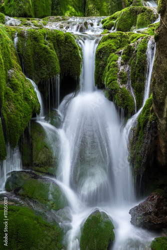 Waterfalls at Entzia mountain range (Spain)