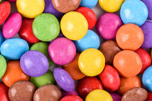 Group Of Sweet Colorful Candy Close Up