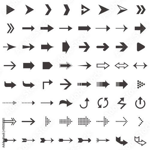 Fotografía  vector arrow icon set