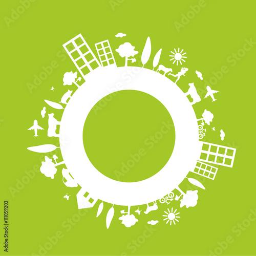 Fotografia, Obraz  affiche,ville écologique